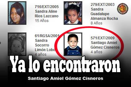 Niños perdidos: Santiago Amiel Gómez Cisneros