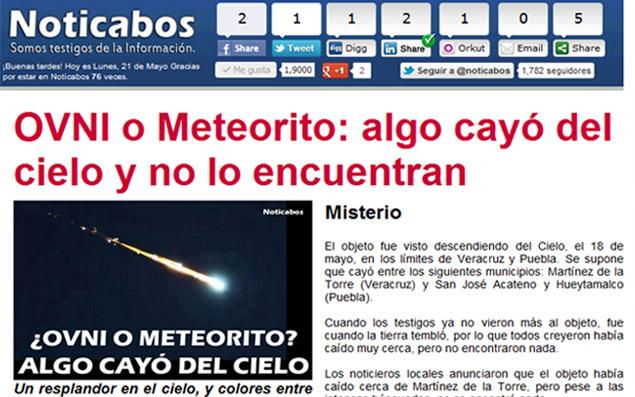 Resultado de imagen de meteorito ovni