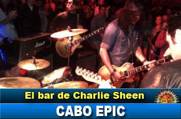 Charlie Sheen inauguró su bar Cabo Epic en Los Cabos