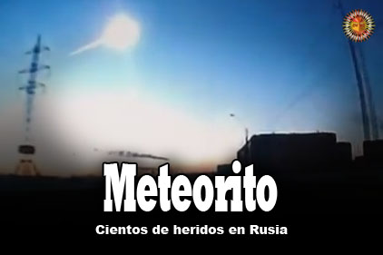 Los restos de un meteorito en la region de cheliabinsk en los montes