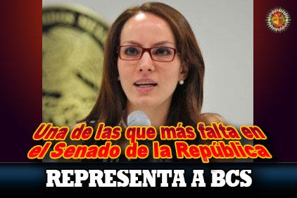 Gabriela Cuevas: una de las que más falta al Senado de la Repúbl