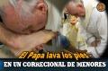 El Papa lava los pies en un correcional de menores