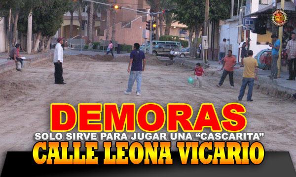 Demoras en la calle Leona Vicario: solo sirve para jugar una cas