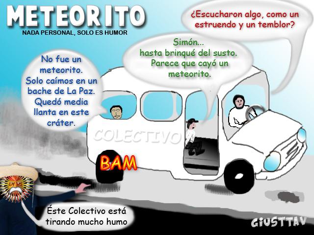 Cartoon - Meteorito en La Paz