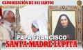 Santos por todos lados: el Papa canonizó a la Madre Lupita