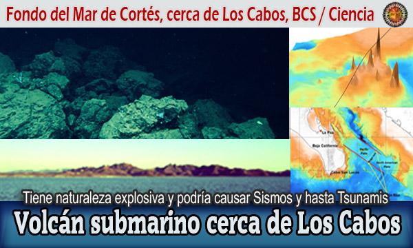 Volcán submarino cerca de Los Cabos