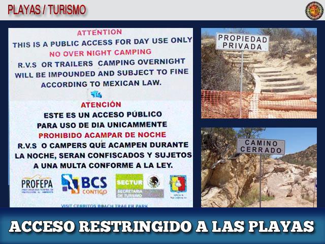 Playas privadas o Acceso restringido