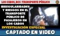 Irregularidades en el transporte público de pasajeros de Los Cab