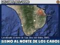 Sismo al Norte de Los Cabos: 4.0 Richter