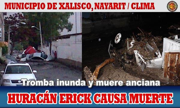 Huracán Erick causa muerte en Nayarit