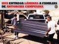 INVI entrega láminas a familias de Antorcha Campesina