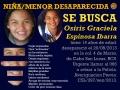 Se busca a Osiris Graciela Espinosa Ibarra