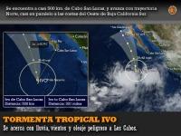Tormenta tropical IVO: se acerca con lluvia, vientos y oleaje pe