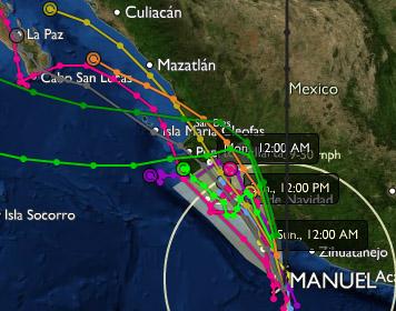 Tormenta tropical Manuel 14/09/2013