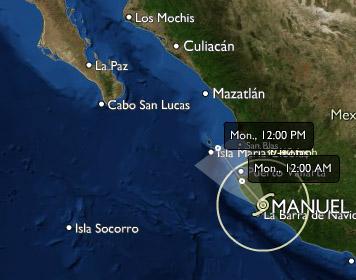 Tormenta tropical Manuel 15/09/2013 - 18:00 hrs.