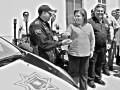 La alcaldesa Esthela Ponce Beltrán entregó las patrullas adquiridas con recursos del SUBSEMUN.