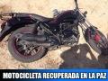 Motocicleta Itálika RC150 recuperada en La Paz, BCS