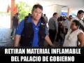 El Coordinador Estatal de Protección Civil encabezó el retiro del material inflamable.