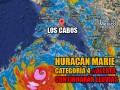 Huracán Marie Categoría 4 al sur de Los Cabos, Océano Pacífico.