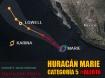 Huracán Marie Categoría 5 al sur de Los Cabos, Océano Pacífico.