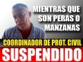 Coordinador de Protección Civil Suspendido