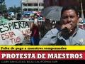 Maestros de Cabo San Lucas realizan manifestación
