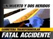 Fatal accidente en la carretera cerca de El Tule