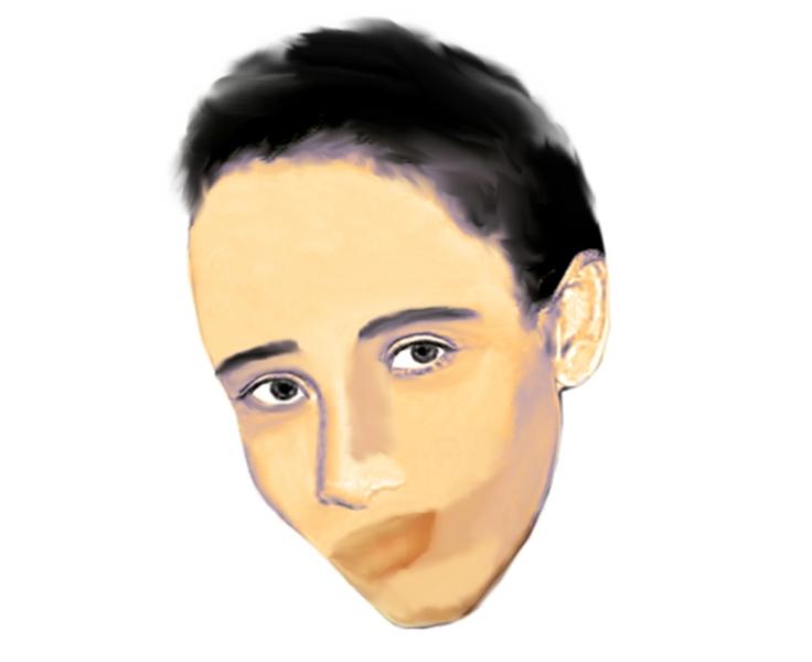Proyección de Lisset Soto Salinas con cabellos cortos