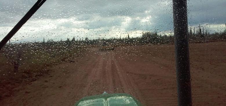 Hoy en la mañana cayó lluvia en Ciudad Insurgentes / Foto de Víctor León, Alertas de Huracanes.