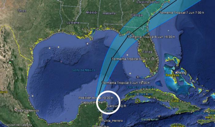 Océano Atlántico: Depresión tropical Tres