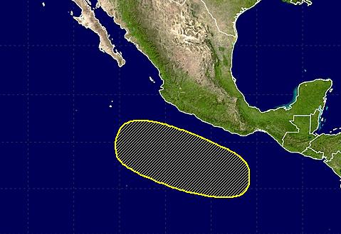 Pronóstico de que surja una posible formación ciclónica para los próximos 5 días.